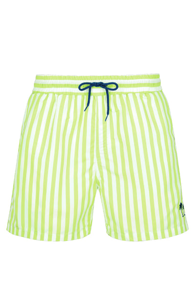 Boy's Classic Cut Swim Shorts - Lime