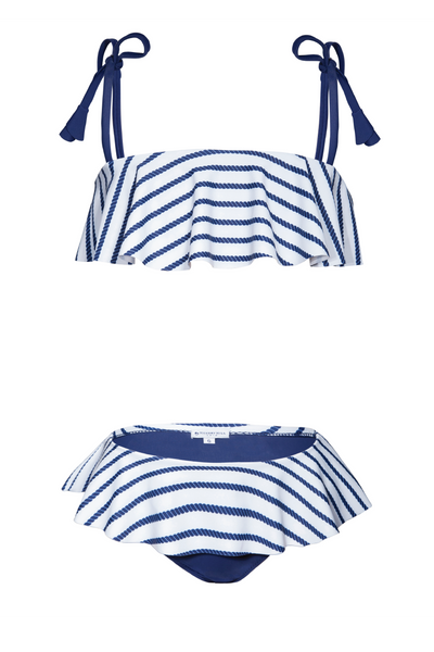 Girl's Positano Bikini - Nautical Navy