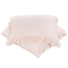 Pink Linen Ruffle Doona Cover Set , Bedding, Hickory Hill Home - 1
