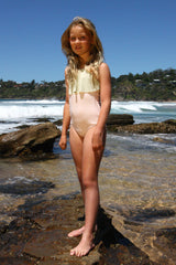 Girl's Positano One Piece - Pink & Pistachio