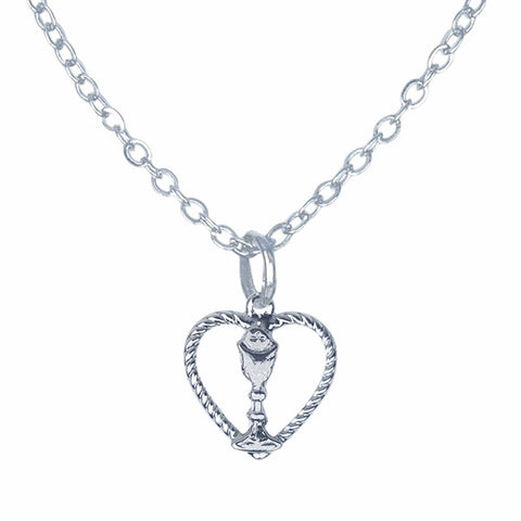 Necklace-heart Chalice First Commu