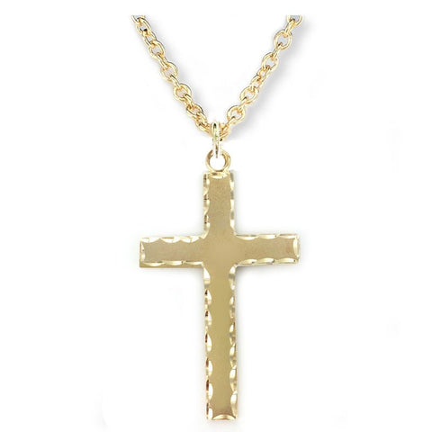 Cross W Our Father Prayer on Back