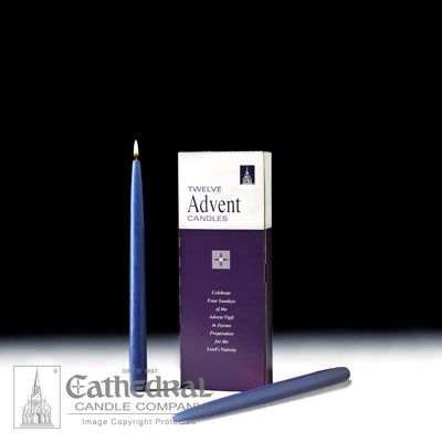 Advent Candle Blue Taper Individual