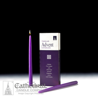 Advent Candle Purple Taper Individual