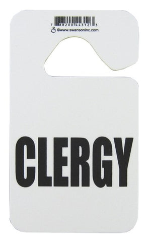 Clergy Mirror Hanger Black
