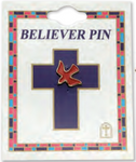 Pin Dove Red Holy Spirit