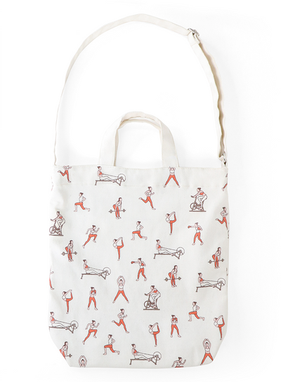 AURA ESSENTIALS PRINTED TOTE BAG