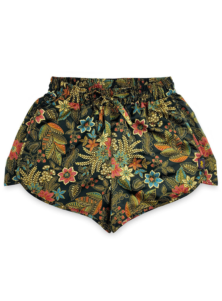 RAFIKIMONO EVENING BLOOM HIGH THIGH SHORTS
