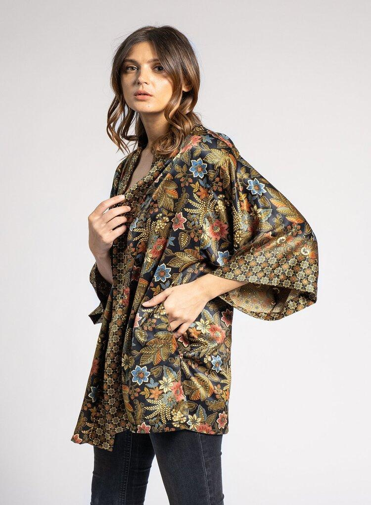 RAFIKIMONO EVENING BLOOM SHORTY KIMONO