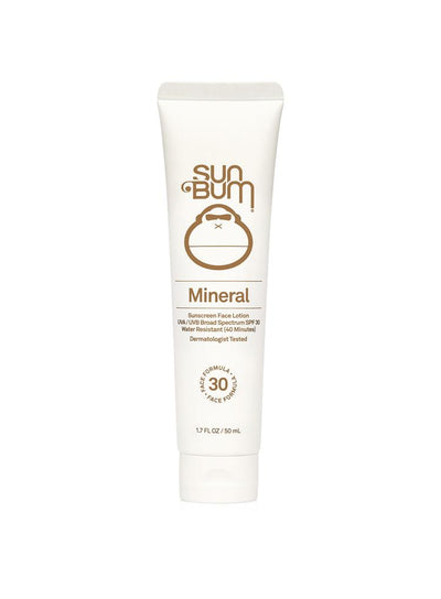 SUN BUM MINERAL SPF 30 SUNSCREEN FACE LOTION