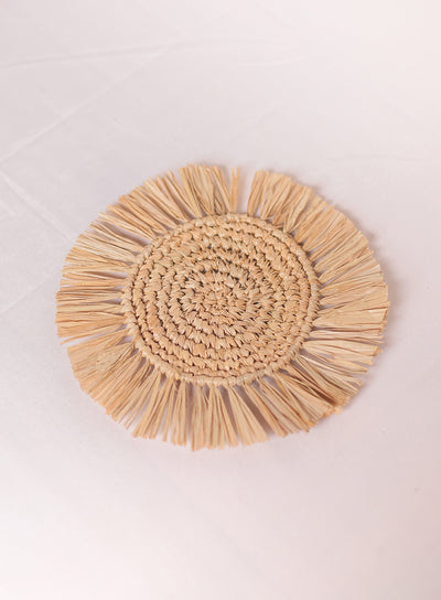 TAHANAN FURNITURE FRINGE RAFFIA COASTERS