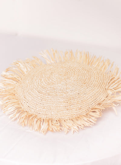 TAHANAN FURNITURE RAFFIA ROUND PILLOW CASE