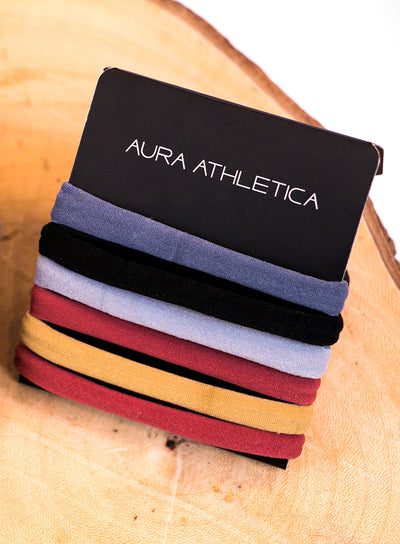 AURA ATHLETICA SEAMLESS HAIR TIES SET OF 6