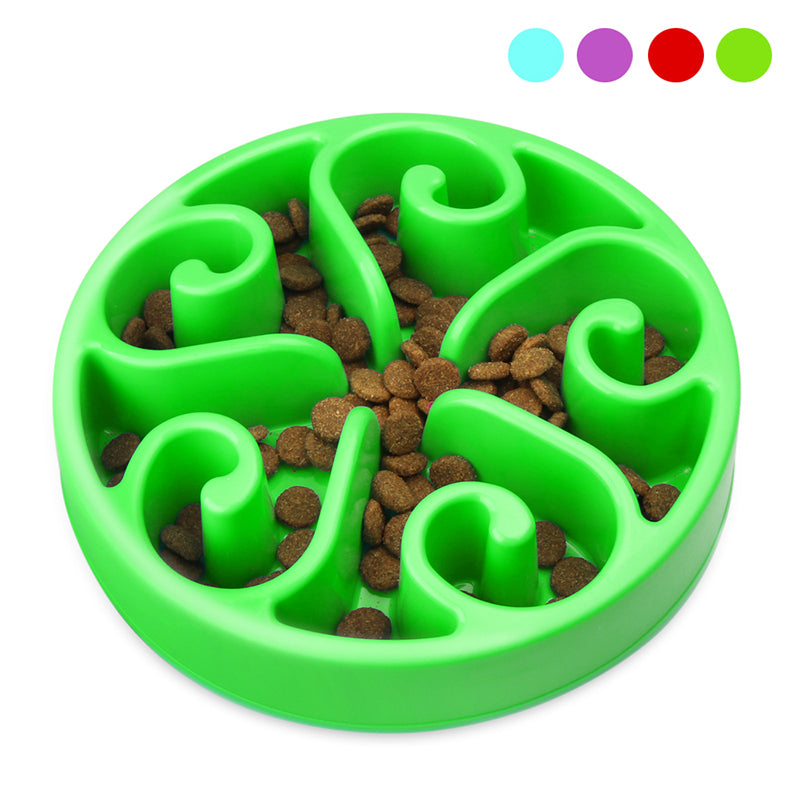 Zellar Dog Bowl Slow Feeder - Slow Feed + Interactive + Bloat Stop + Anti Gulp Blue Dog Bowls Fit Small Medium Dogs and Cats