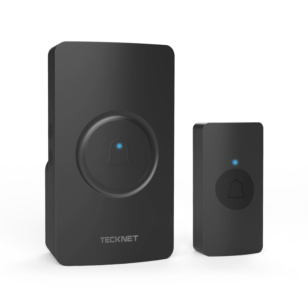 TECKNET Waterproof Wall Plug-in Wireless Doorbell Door Chime, UK Plug