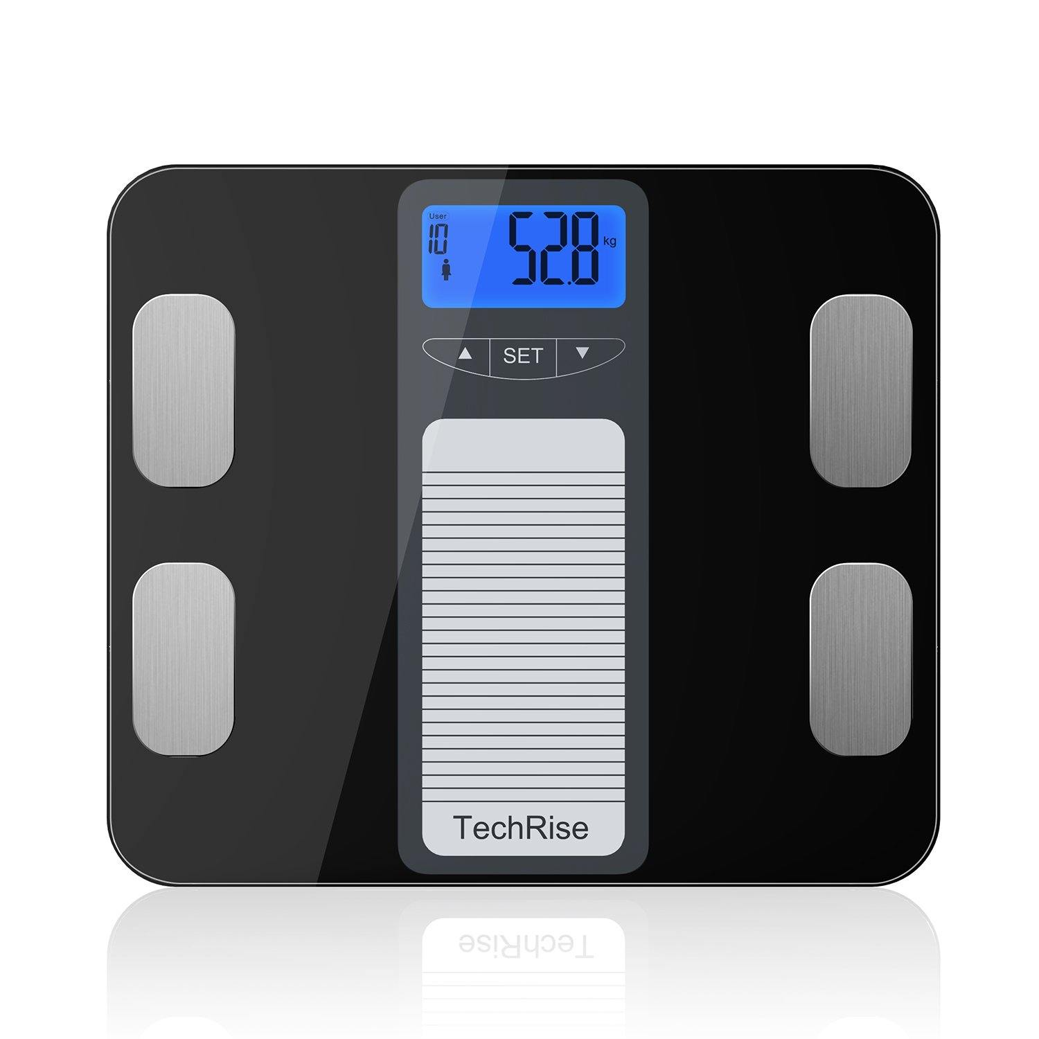 TechRise Smart Digital Body Fat Bathroom Weight Scales
