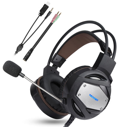 TECKNET Gaming Headset 3.5mm Stereo Over-Ear Gaming Headphone - smartekbox
