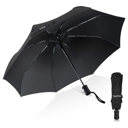 Techrise Windproof Automatic Folding Travel Umbrella Auto Open and Close - smartekbox