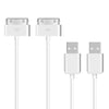 TechRise USB Charging Cable for iPad 1/2/3, iPod, iPhone 4/4S,  2 Pack