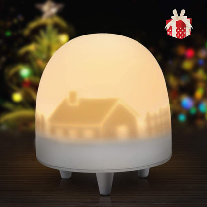VOXON Portable Child LED Night Light Lamp with Touch Control LED 3 Color Adjustable - smartekbox