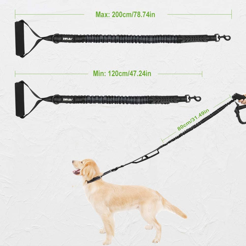 Zellar Dog Lead Heavy Duty Reflective Nylon Braided Training Leash Rope