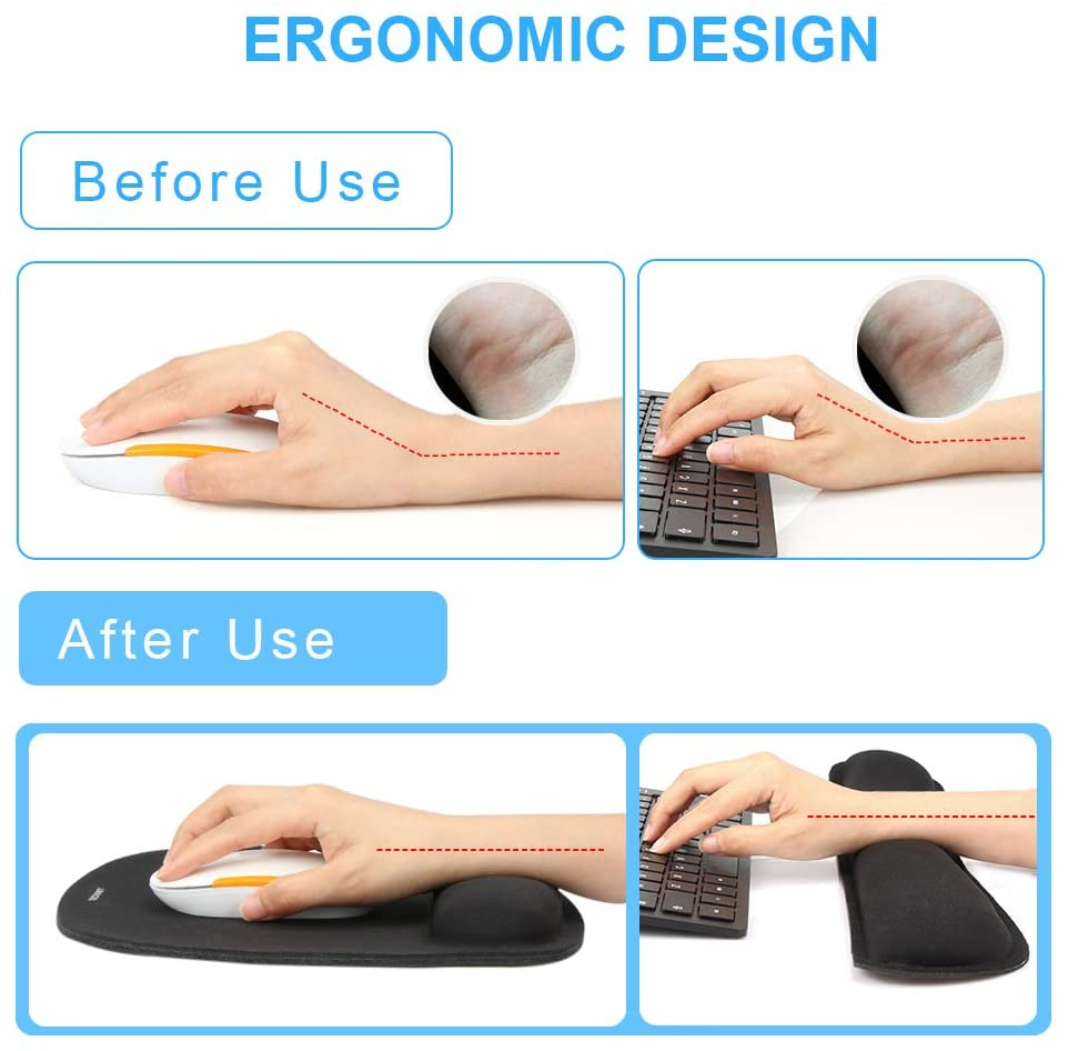 TeckNet Keyboard Wrist Rest and Mouse Pad with Wrist Support