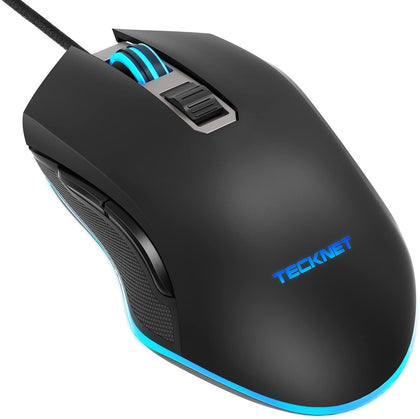 Tecknet 7200DPI Programmable Wired Gaming Mouse With 6 Buttons - smartekbox