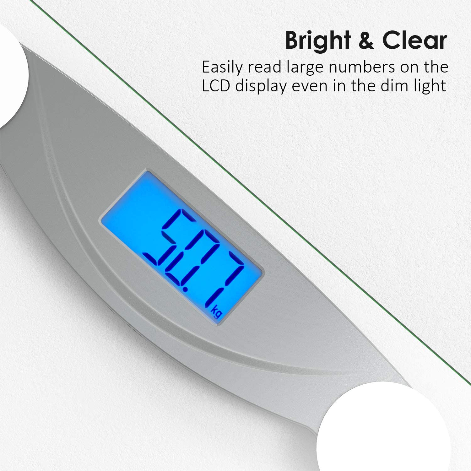 VOXON Digital Body Weight Bathroom Scales with LED Display