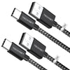 TECKNET USB C Cable [2-Pack/1M*2] Charging Sync Type C Cable
