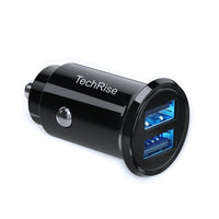 TechRise Car Charger Mini 2-port USB Car Cigarette Adapter Charger - smartekbox