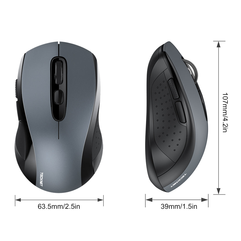 TECKNET Classic One 2.4G 2000DPI Wireless Mouse With Nano Receiver