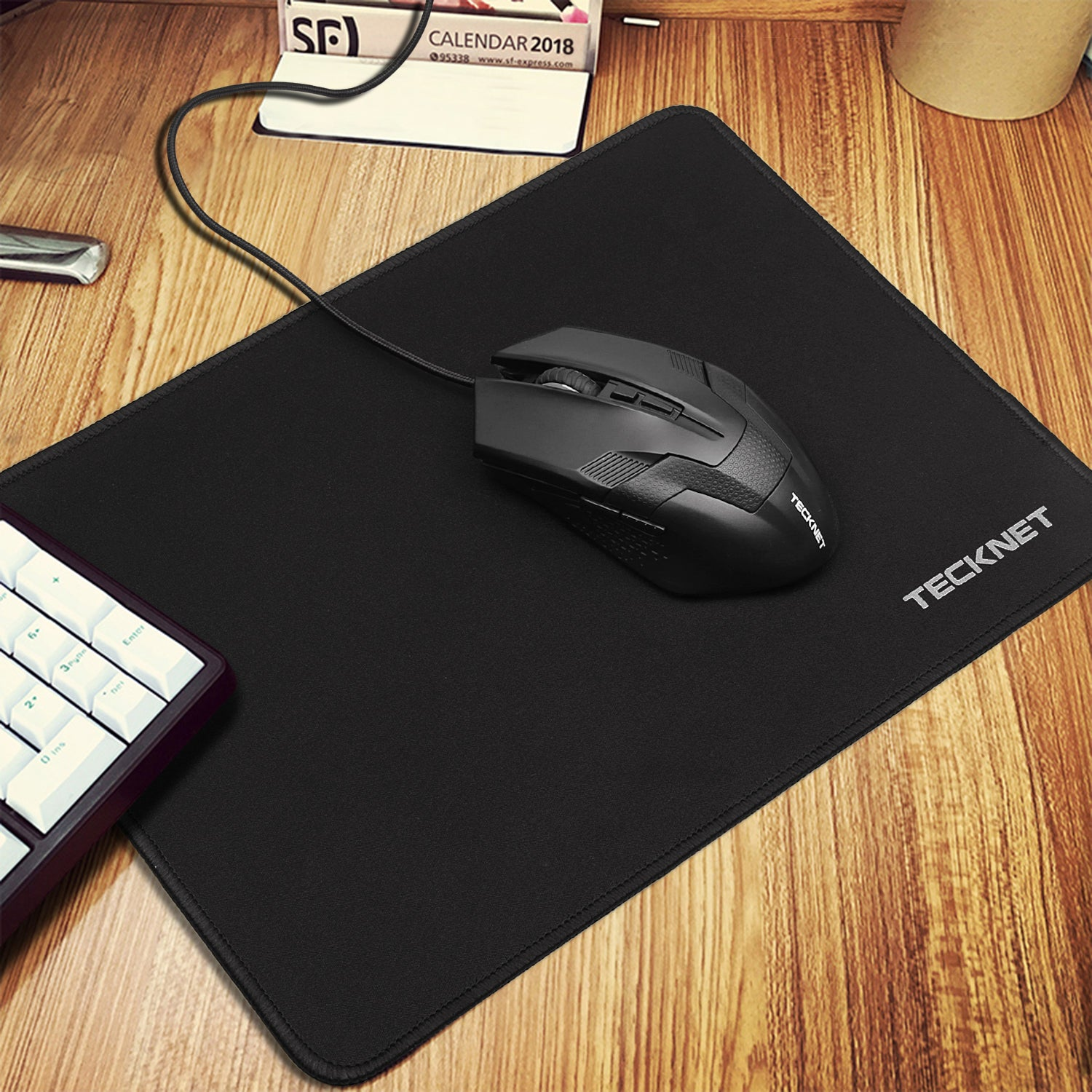 TECKNET Non Slip Mouse Pad Mats for Gaming, 320 x 250 x 3 mm