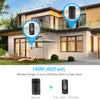 TECKNET Wireless Doorbell Wall Plug-in Cordless Door Chime Kit
