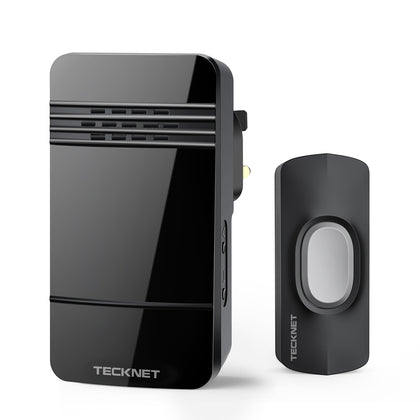 TECKNET Wireless Doorbell Wall Plug-in Cordless Door Chime Kit - smartekbox
