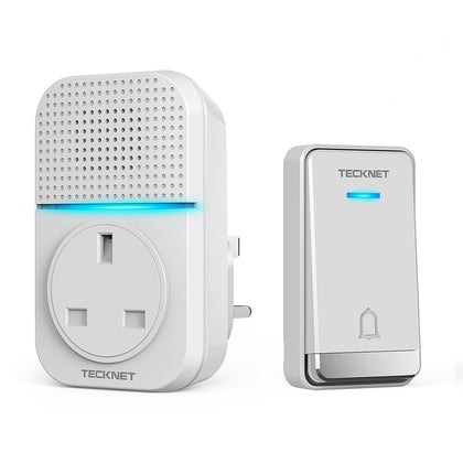 TECKNET Self-Powered Wireless Doorbell Plug in Cordless Door Chime - smartekbox