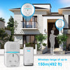 TECKNET Self-Powered Wireless Doorbell Plug in Cordless Door Chime