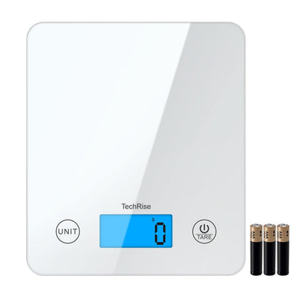TechRise Digital Kitchen Scale Touch Sensitive with High Precision LED Display - smartekbox