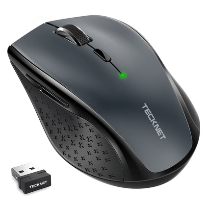 TECKNET Classic 2.4G Wireless Mouse,4800 DPI, 6 Adjustment Levels, Nano Receiver - smartekbox
