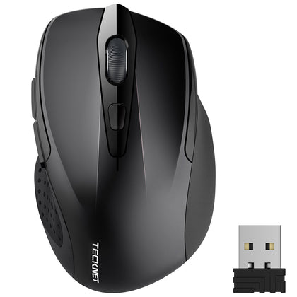 TECKNET Pro 2.4G 2600 DPI Wireless Mouse for Office Cordless Mice - smartekbox