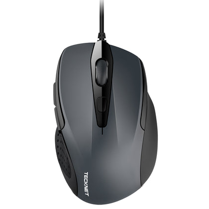 TECKNET Pro S2 2000dpi Wired USB Mouse, 6 Buttons - smartekbox