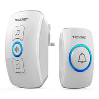 TECKNET Wireless Doorbell Wall Plug-in Cordless Door Chime, 32 Chimes - smartekbox
