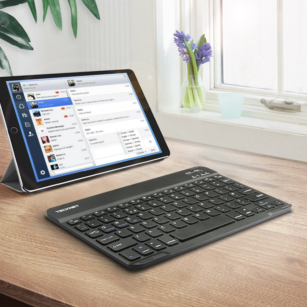 TECKNET Bluetooth Wireless Keyboard with Built-in Rechargeable Battery
