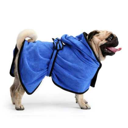 Zellar Dog Bathrobe Fast Drying Towel with Adjustable Strap Hood - smartekbox