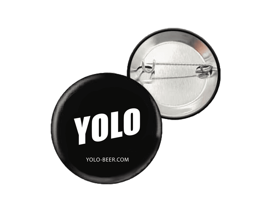 Pins collector YOLO noir