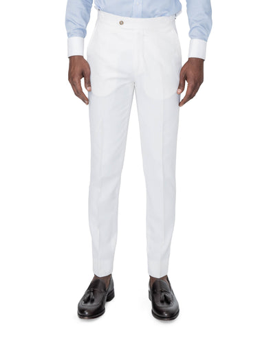 Anderson White Suit Trousers Front