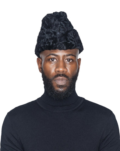 Black Persian Lamb Cossack Hat Front