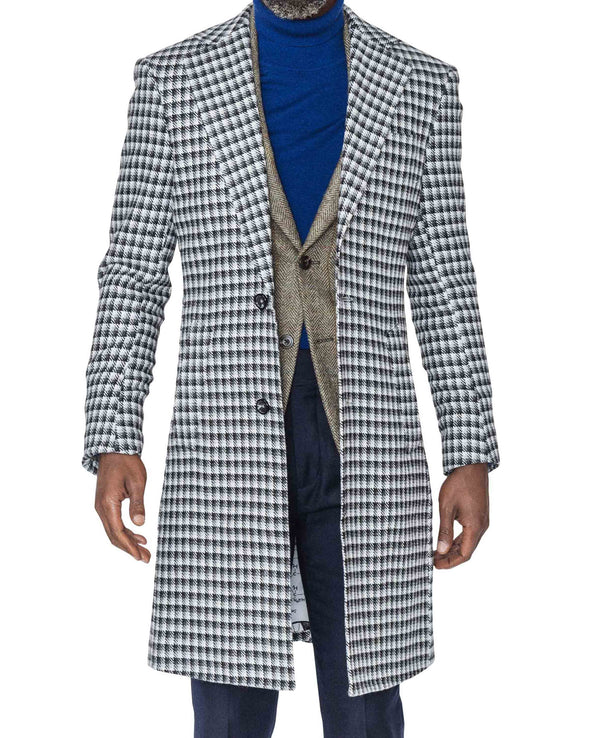 Bobby Houndstooth Coat Open