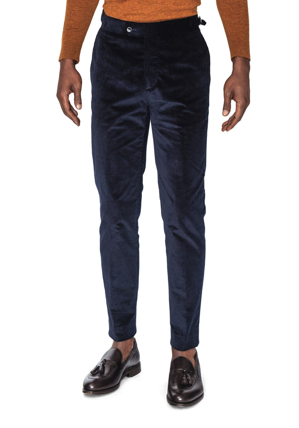Brent Navy Corduroy Trousers