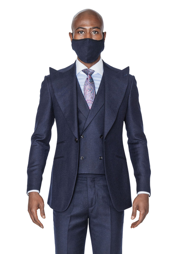 Nelson Navy 3-Piece Suit