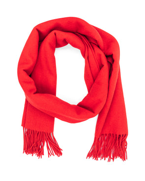 Oversized Red Cashmere Scarf